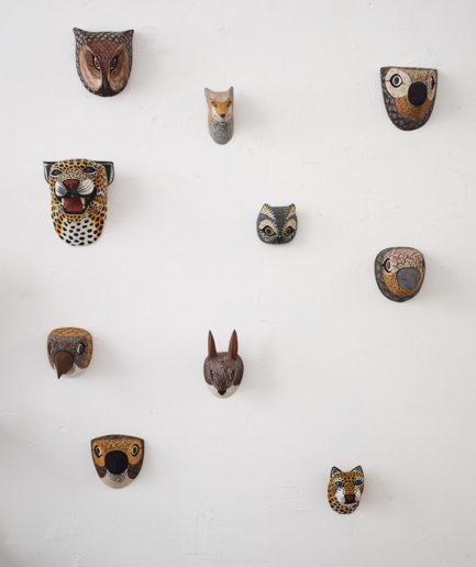 Masque Trophée en bois - Ambiance 5