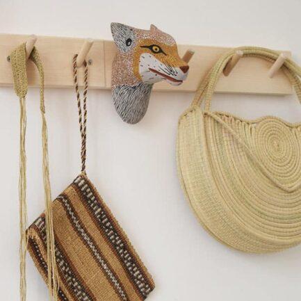 Masque Trophée Renard en bois - Ambiance 1