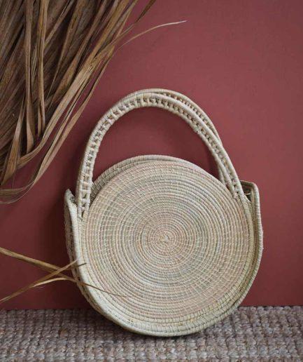 Mini sac rond naturel Finca Home - Ambiance 1