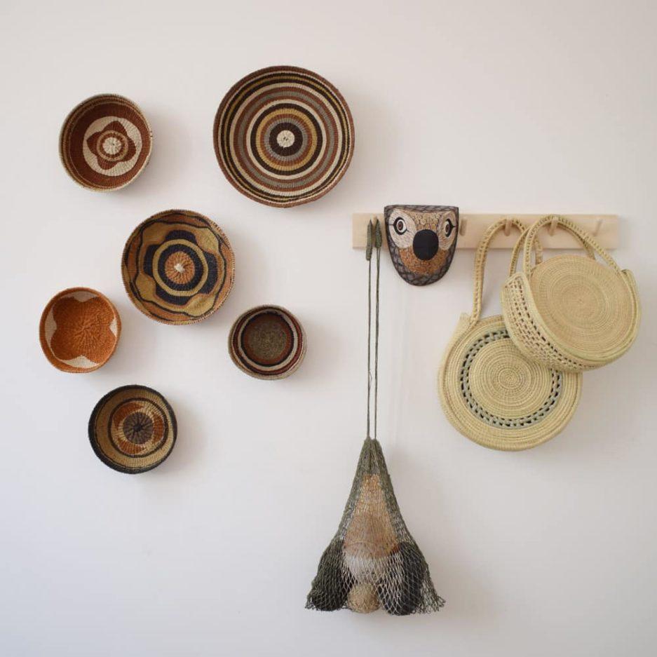 Corbeille ethnique ronde colorée Finca Home - Ambiance 10