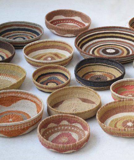 Corbeille ethnique ronde colorée Finca Home - Ambiance 11
