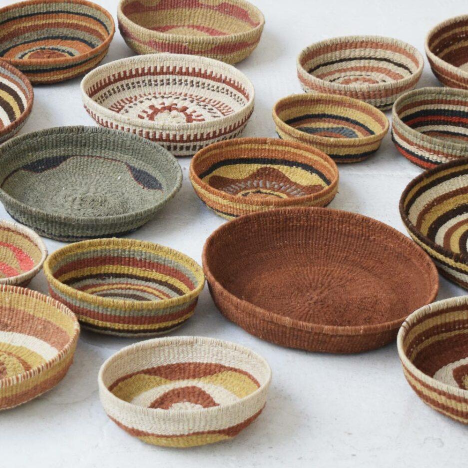 Corbeille ethnique ronde colorée Finca Home - Ambiance 12