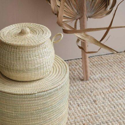 Boîte tressée fibres naturelles Finca Home - Ambiance 2