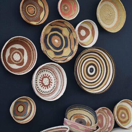 Corbeille ethnique ronde colorée Finca Home - Ambiance 2