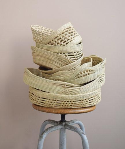 Corbeilles tressées en fibres végétales Finca Home - Ambiance 6