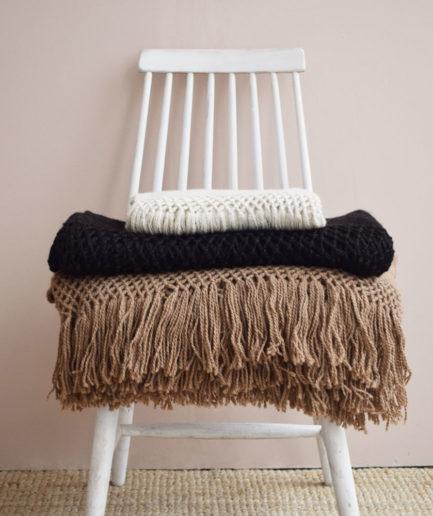 Textile : Plaid et écharpe en laine de lama Finca Home - Ambiance 1