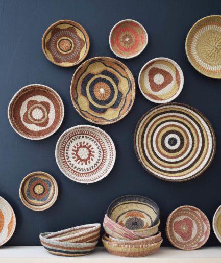 Corbeille ethnique ronde colorée Finca Home - Ambiance 3