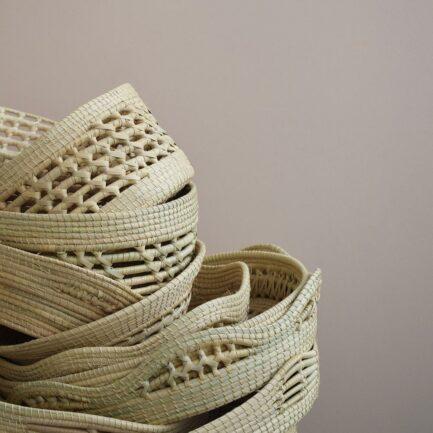 Corbeilles tressées en fibres végétales Finca Home - Ambiance 4