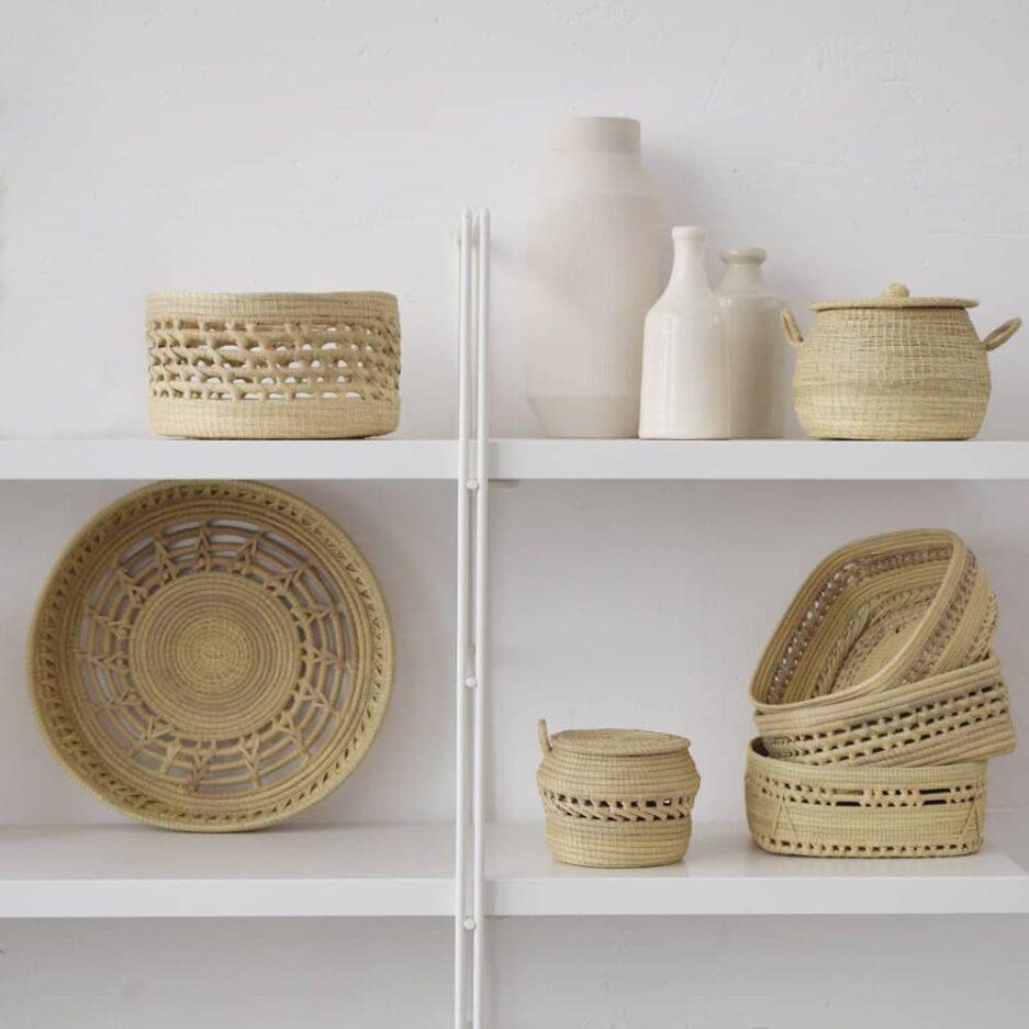 Corbeilles tressées en fibres végétales Finca Home - Ambiance 5