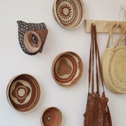 Corbeille ethnique ronde colorée Finca Home - Ambiance 6