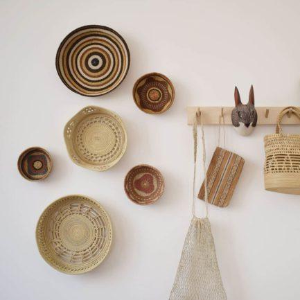 Corbeille ethnique ronde colorée Finca Home - Ambiance 8