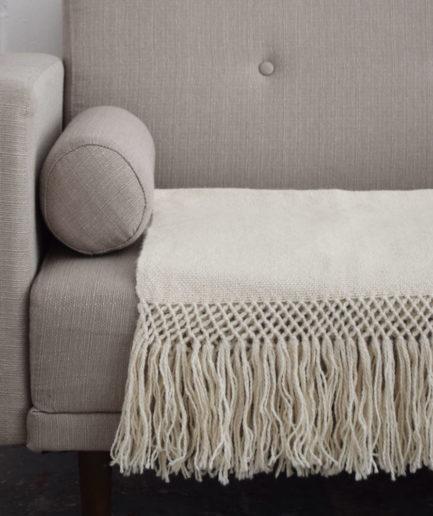 Echarpe en laine de lama blanche Finca Home