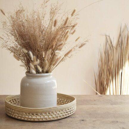 Plateau tressé XL en palmier Finca Home - Ambiance