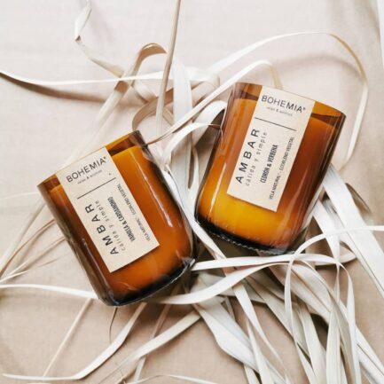 Bougie parfumée naturelle Cèdre et Verveine - Finca Home