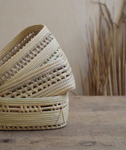 Corbeilles tressées en fibres végétales Finca Home - Ambiance 7
