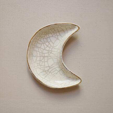 Coupelle lune en céramique blanche Finca Home