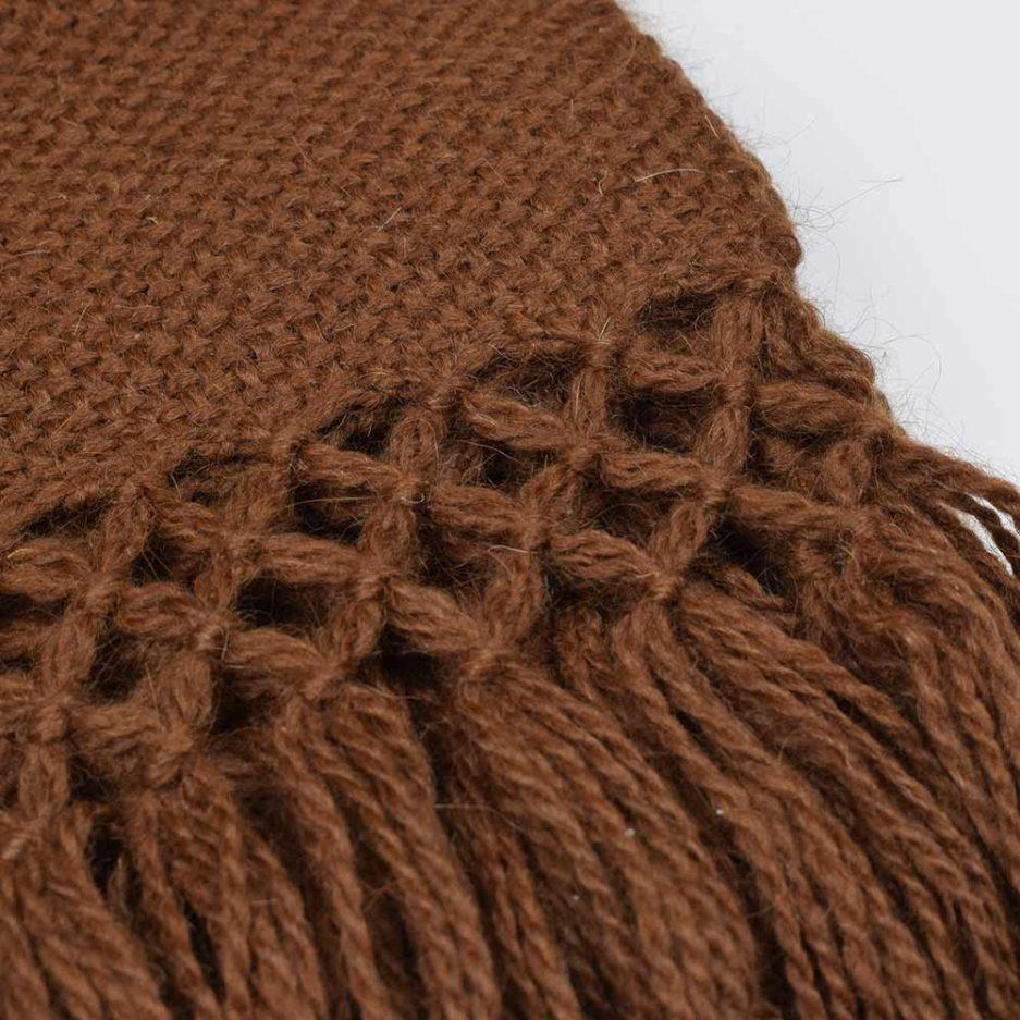 Zoom écharpe en laine de lama marron Finca Home