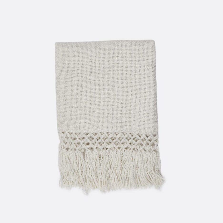 Echarpe en laine de lama blanc Finca Home
