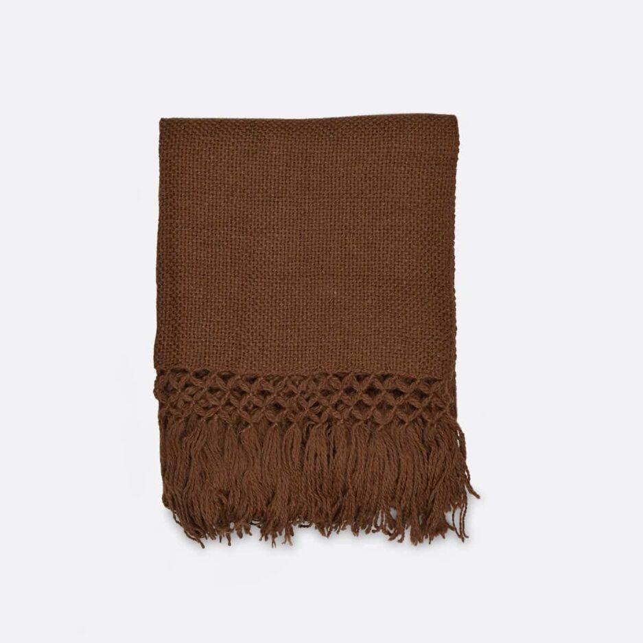 Echarpe en laine de lama marron Finca Home