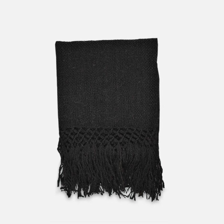 Echarpe en laine de lama noir Finca Home
