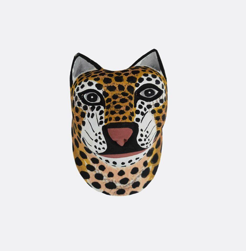 Trophée mural en bois Mini Jaguar Finca Home - Vue de face