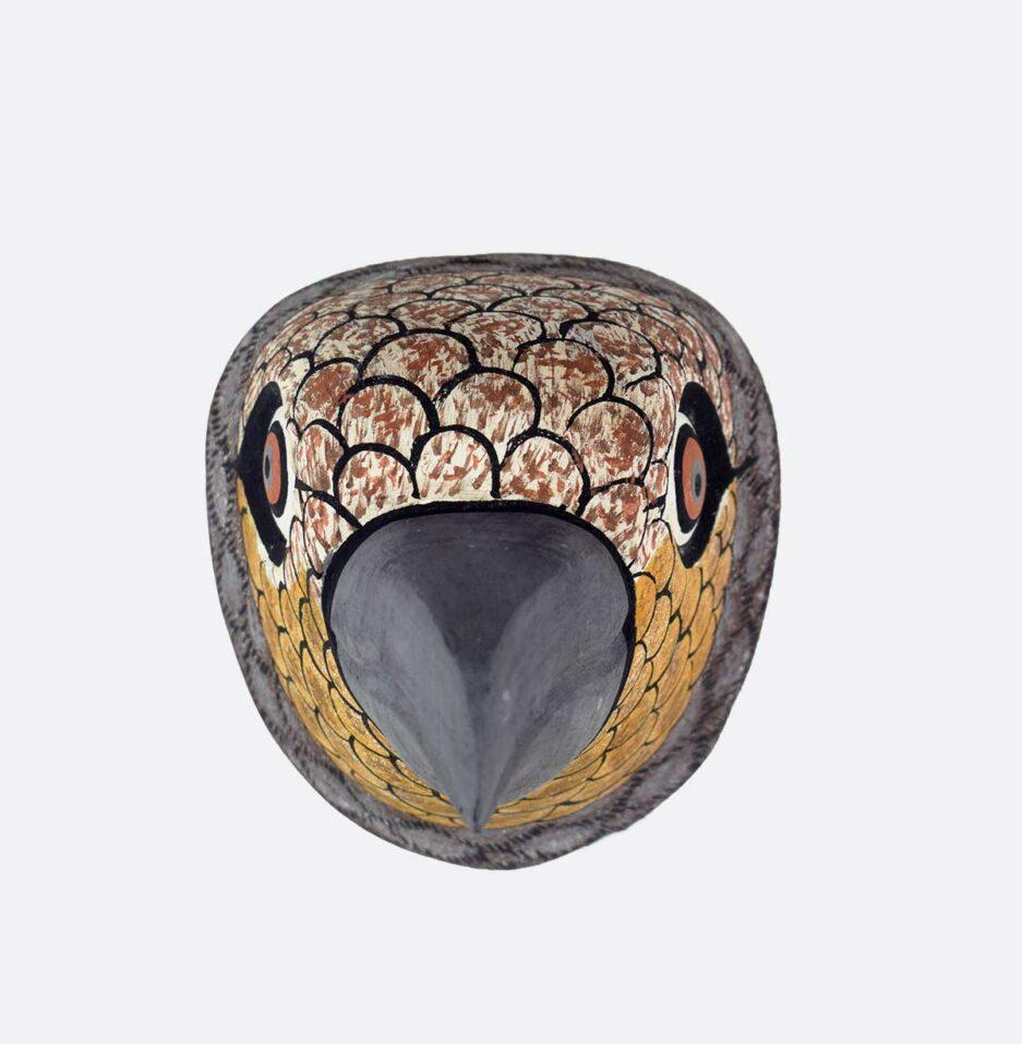 Trophée mural en bois Oiseau gris Finca Home - Vue de face