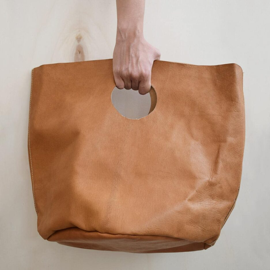 Grand sac cabas en cuir de chèvre Finca Home