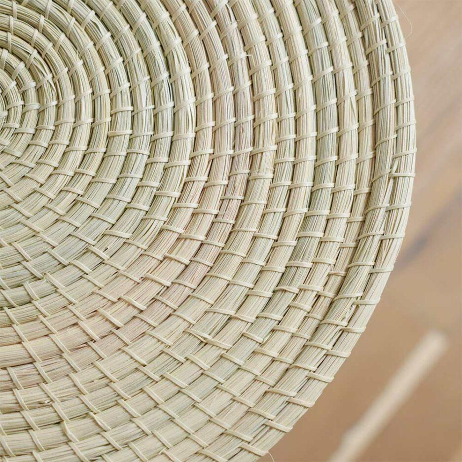 Grande boîte avec couvercle en palmier Finca Home