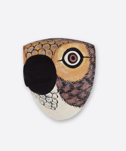 Trophée en bois Oiseau petit bec marron Finca Home