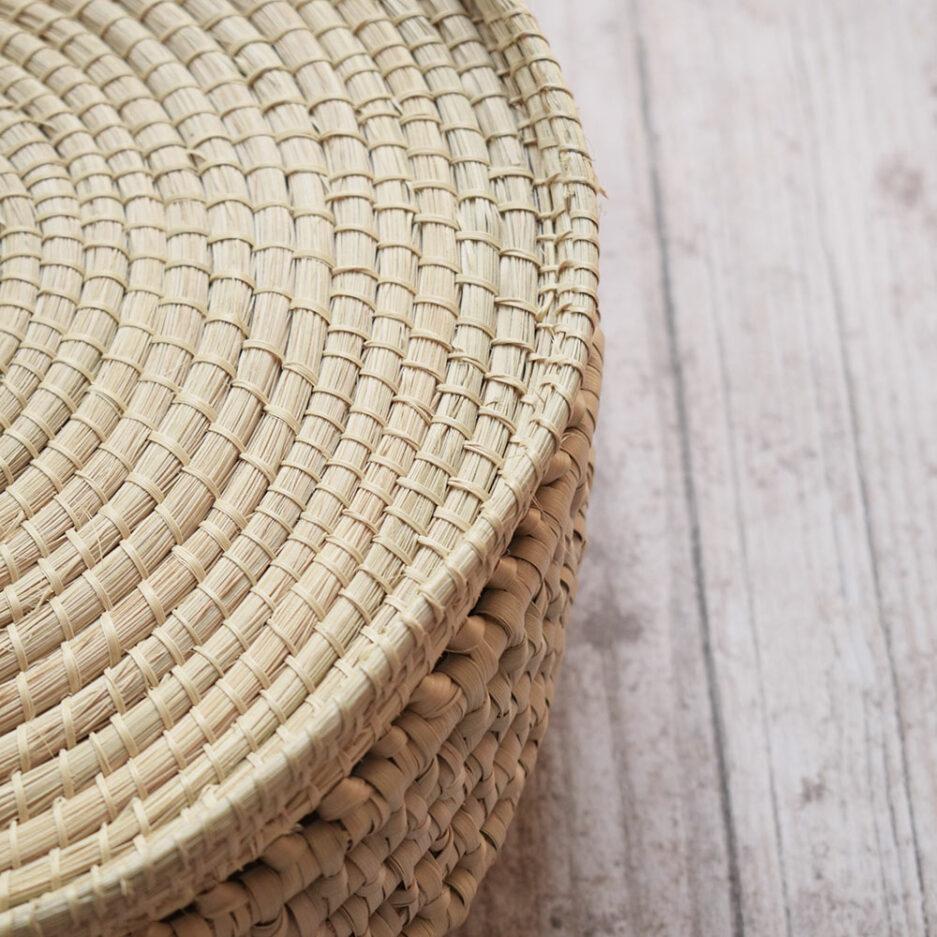 Mini sac rond en palmier tressé Finca Home