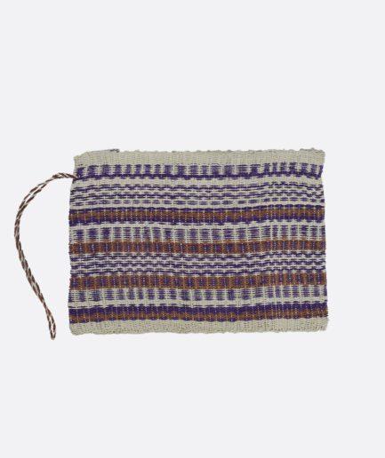 Trousse tissée beige et violette Finca Home