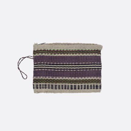 Pochette tissée violette et noire Finca Home