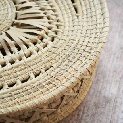 Sac rond été en palmier tressé Finca Home