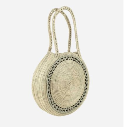 Sac rond bicolore naturel Finca Home