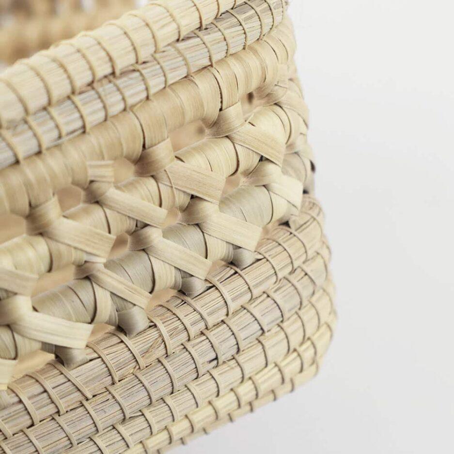 Corbeille tressée fond plein en fibres végétales Finca Home - Zoom