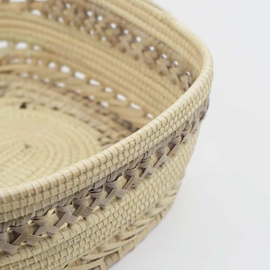 Corbeille tressée fond rond en fibres végétales Finca Home - Zoom