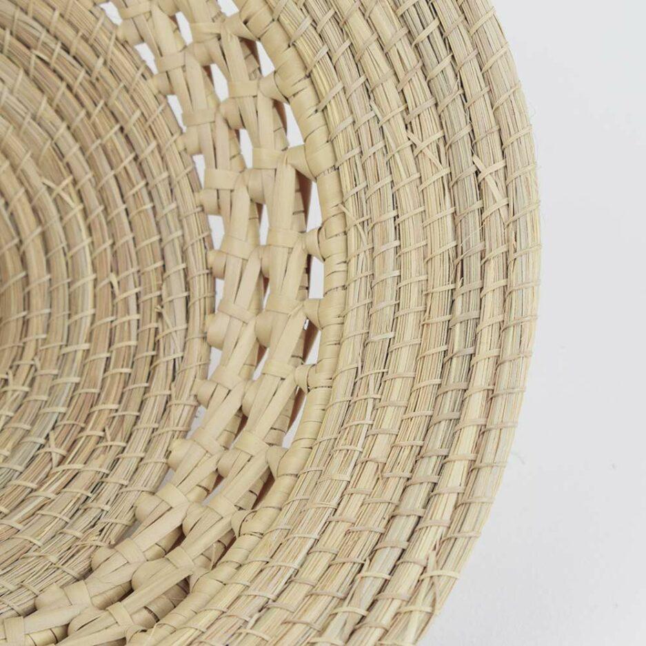 Coupelle tressée haute en fibres végétales Finca Home - Zoom