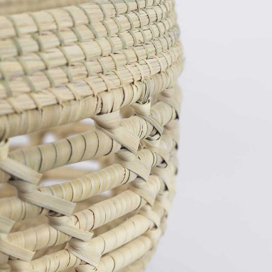 Panière tressée ronde L en fibres végétales Finca Home - Zoom