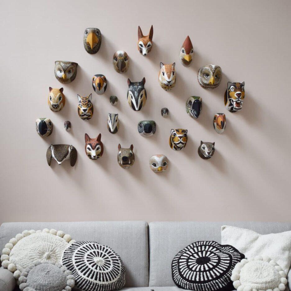 Trophées muraux animaux en bois Finca Home - Ambiance