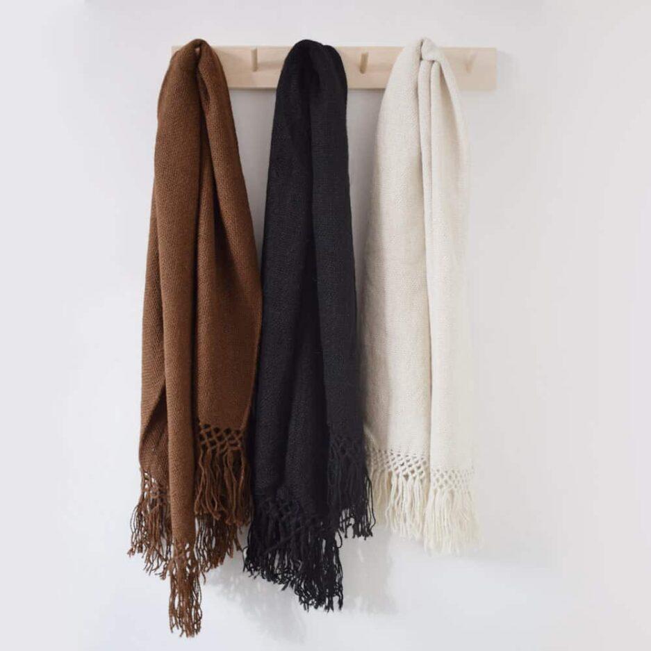 Echarpe en laine de lama Finca Home - Ambiance