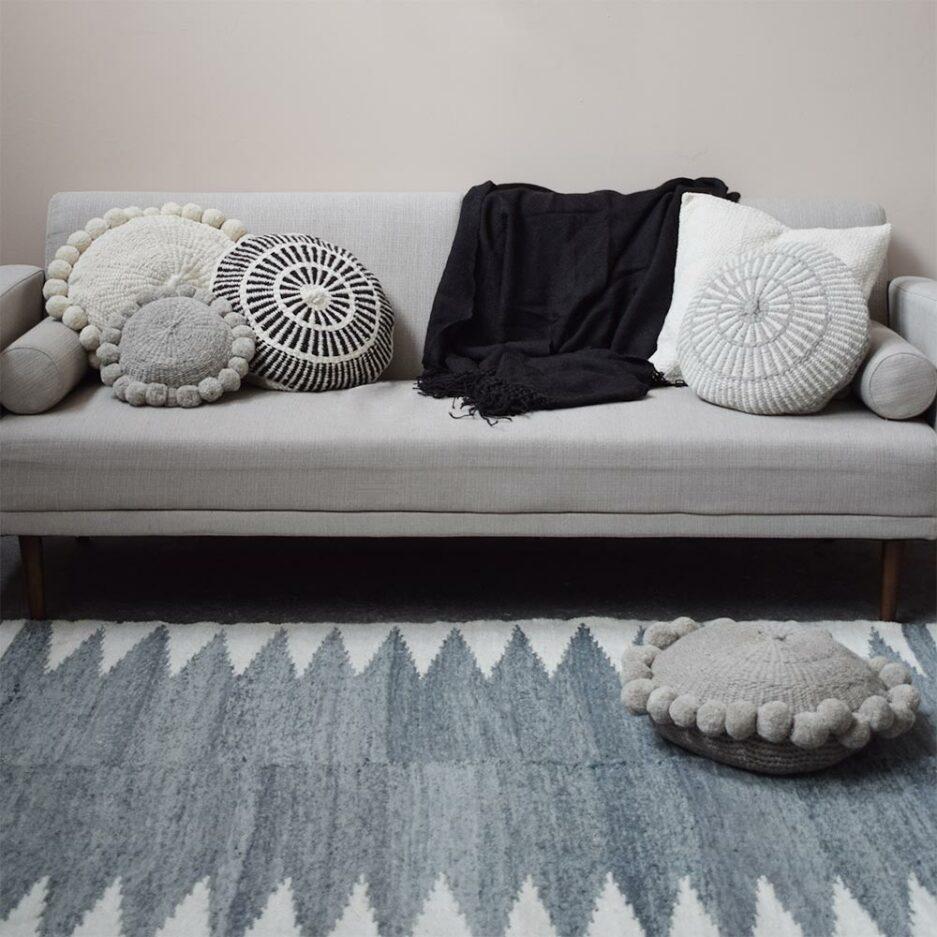Tapis en laine gris Finca Home - Ambiance