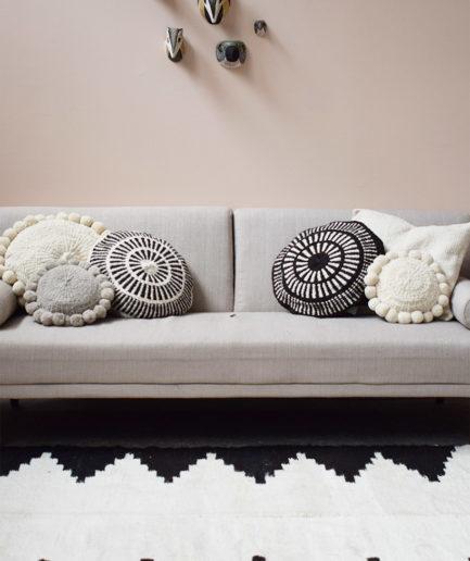 Tapis en laine noir et blanc Finca Home - Ambiance