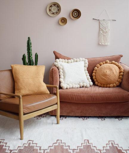 Tapis en laine sienne Finca Home - Ambiance