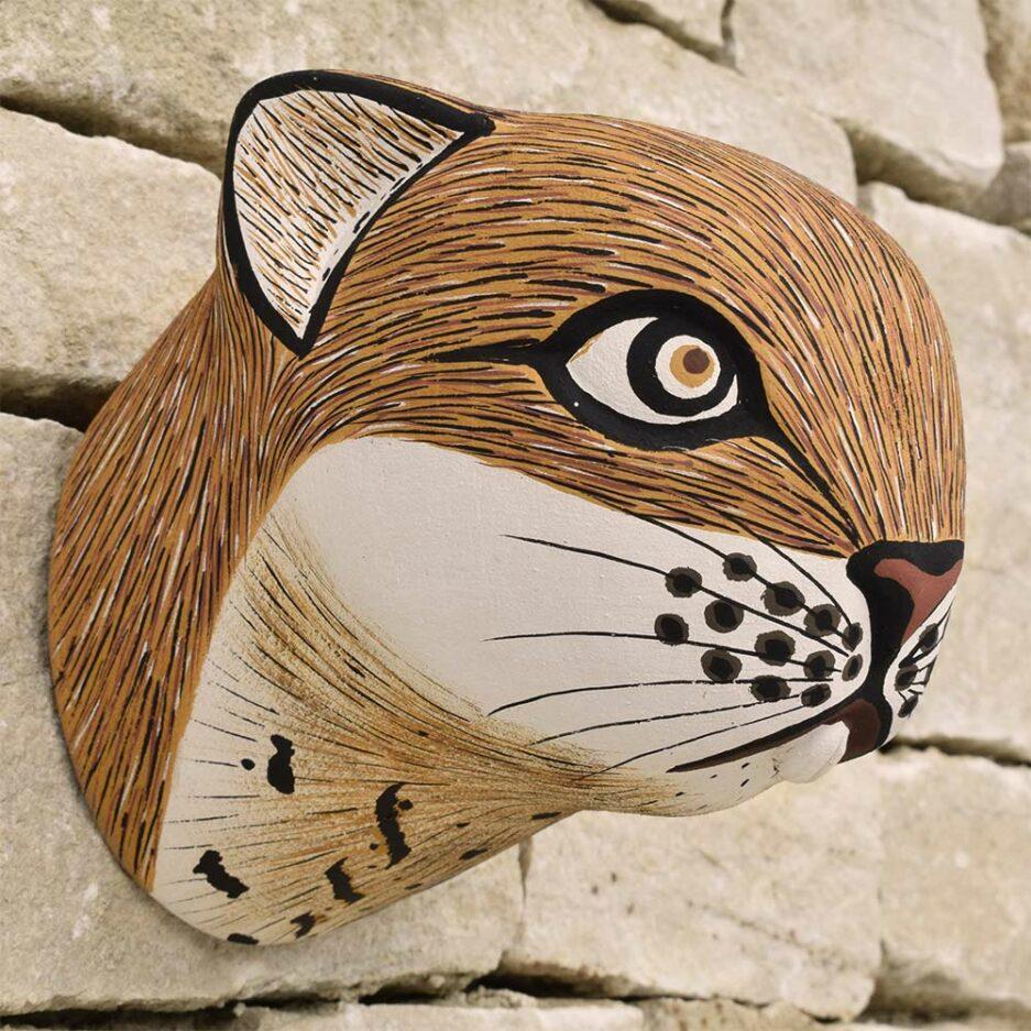 Trophée mural en bois agouti Finca Home