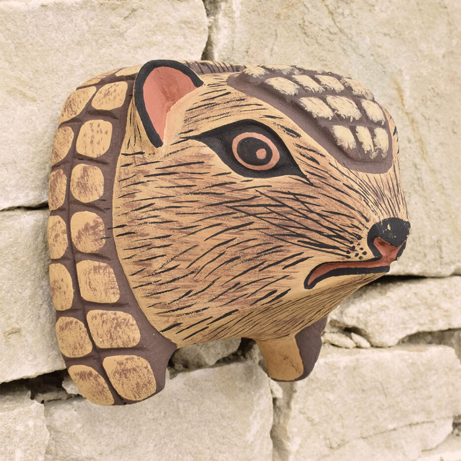 Trophée mural en bois tatou Finca Home