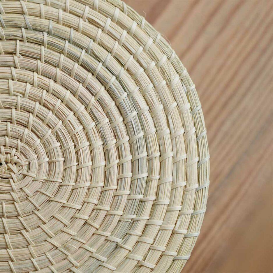 Boîte avec couvercle en palmier tressé Finca Home