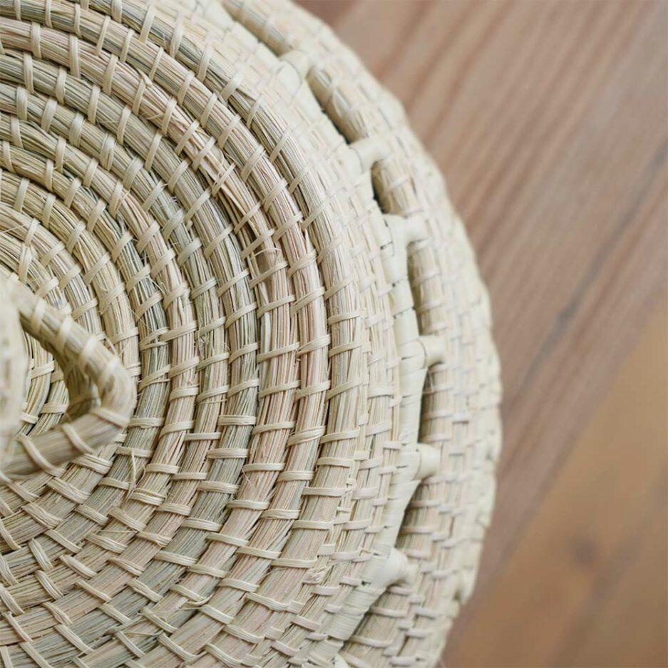 Boîte ronde déco en palmier tressé Finca Home
