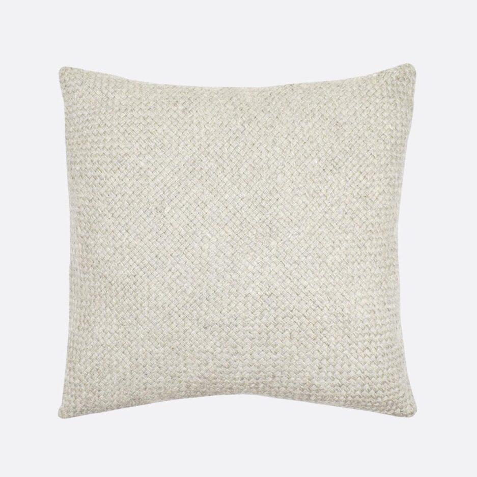 Coussin décoratif carré 50x50 blanc Finca Home