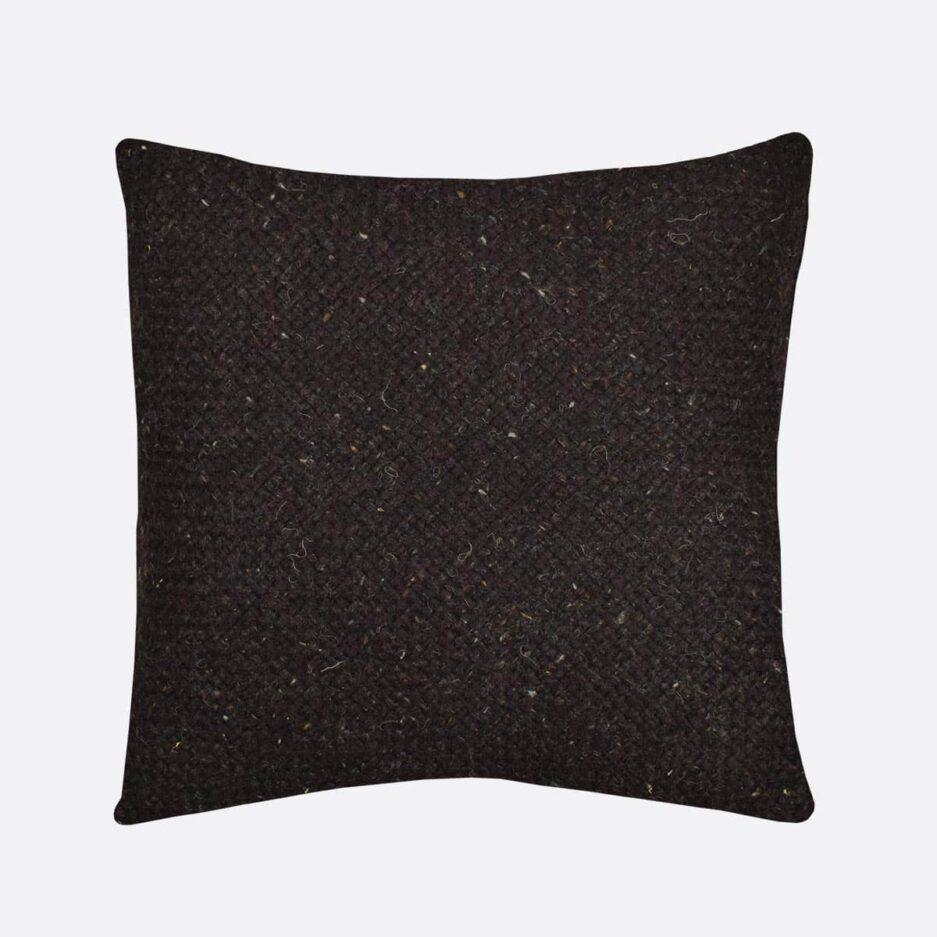 Coussin décoratif carré 50x50 noir Finca Home