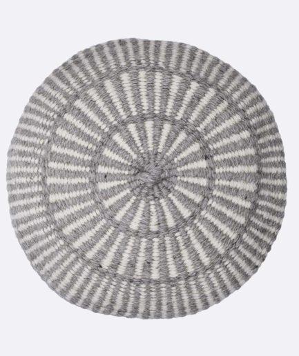 Coussin rond motif gris Finca Home